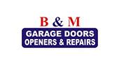 B & M Garage Door Openers & Repairs logo