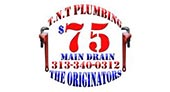 Mrs. TNT Plumbing and Sewer Cleaning logo