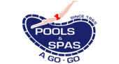 Pools and Spas A Go-Go logo