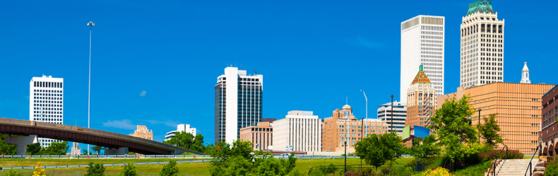 Tulsa Skyline with Bridge